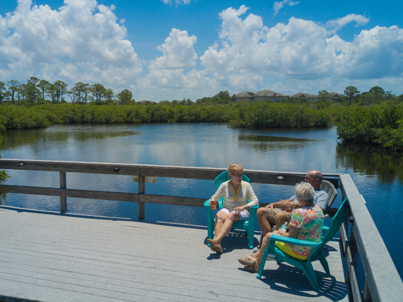 our deck on the double bank river is one of the great amenities