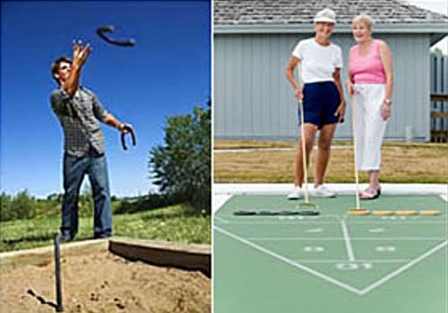 athletics include shuffleboard & horseshoes