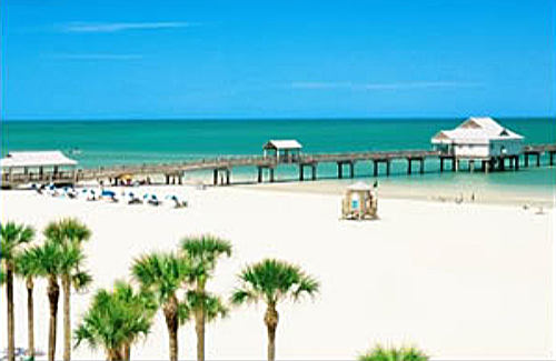 one of the most popular beaches is Clearwater Beach